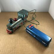 Vtg 1960s Marx Tin Litho Toy Battery Operated Western Train - Needs Repair