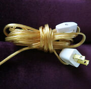 Set Of 2 --10ft Electrical Part Cord Switch Plug Kit Set For Sconce Plugin Lamp