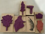 Alextamping Landscape Tropical Palm Trees Fern Lighthouse Rubber Stamps Lot Of 7