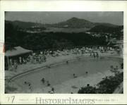 1969 Press Photo Scenic View Of Pool At A Resort In Some Islands