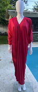 Vintage Halston Red Gown One Size Fits All 1970's