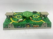 Vintage Abtotpacca Russian Mechanical Tin Wind-up Gas Station Cars Trucks Track