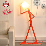 Cool Creative Floor Lamps Wood Tall Decorative Reading Standing Arm Swing Light