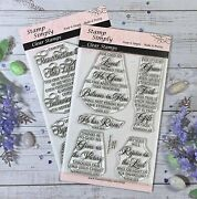 Stamp Simply Clear Stamps Easter Scripture 2-pack 4x6 Inch Sheets - 11 Pieces