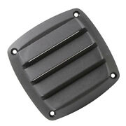 4 Inch Black Plastic Louvered Vents Fits Marine Yacht Air Vent Sailing Hardware