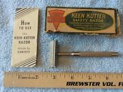 Vintage Ec Simmons Keen Kutter Safety Razor Vanity Collectible Christy W/ Box