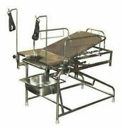 Obstretic Delivery Labour Table All Ss With Telescopic Slide Down 3and039and039 Mattress