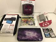 New Nintendo 3ds Xl Console Bundle Galaxy Purple System Complete W/ Games And Case