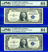 1935-d 1 S/c Star Changeover - Wide To Narrow Pmg 64epq 81136980 And 1-