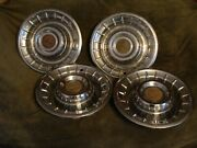 1956 Cadillac 15 Wheel Covers Set Of 4 Used