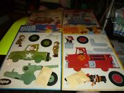 Four 1960s Jaymar Action Puzzles Unopened Packages Jeep Firetruck Train Stage