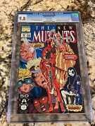 New Mutants 98 Cgc 9.8 White Pages 1st Deadpool Wade Wilson Gideon And Copycat