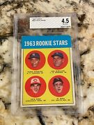 1963 Topps Pete Rose Rookie 537 Bvg 4.5 Amazing Eye Appeal Centered Gorgeous Rc