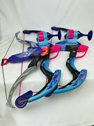 Lot Of Nerf Rebelle Strongheart Bow 4 Shots And 2 Revolution Compound Toy Bows