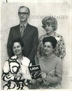 1969 Press Photo Ann Maucele Saia With Other Dance Masters Officers Installed