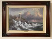 Thomas Kinkade Landscape Oil Painting- Conquering The Storms Seaside Memories Vi