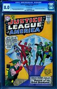 Justice League Of America 4 Cgc 8.0 -- 1961 -- Green Arrow Joins 0149800001