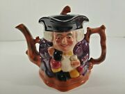 Antique Edwardian Toby Jug Teapot Figural Double Faced Shorter And Son England