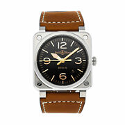 Bell And Ross Br 03-92 Golden Heritage Auto Steel Mens Watch Br0392-gh-st/sca