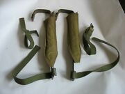 Vtg Us Military 1945 Lineman Climbing Spikes Gaffs Pole Tree Decatur Tent Awning