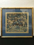 🔥 Antique Chinese Qing Mandarin Square Rank Badge Silk Embroidery