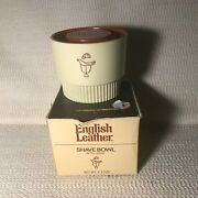 Vintage English Leather Shave Soap And Bowl In Original Packaging--never Used