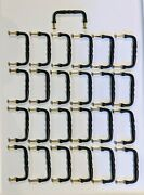 Drawer Pulls 25pc Lot, Solid Brass, Oil Rubbed Bronze Finish, With Brass Screws