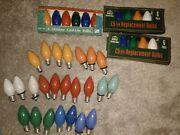 Lot Of C-9 1/4 Christmas Light Bulbs Multi Color Replacement Bulbs Tested Ge W