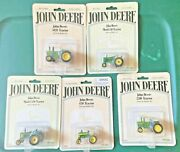 1/64 John Deere 50, 430, 520, 2510, And 5020 Tractors Lot - New On Card