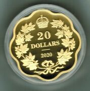 2020 Fine Silver 99.99 - Gold Plated Iconic Maple Leaves 38mm Diameter 26.51g