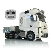 Lesu Metal 1/14 Chassis Truck Hopper Sound Hercules Actros Cab Rc Tractor Radio