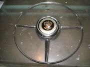 Vintage 1950 Buick Horn Ring Part 1340519 And Button Oem Original 5152