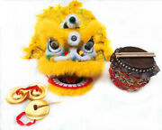Kids Size Lion Dance Costume Equipment-4 Pieces As A Set Drum Cymbals Gongs