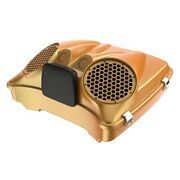 Hard Candy Gold Flake Dual 8and039and039 Speaker Lid For Advanblack/harley Razor Tour Pak