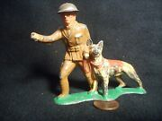 Barclay B148 Soldier, Dispatcher With Dog Lot 827