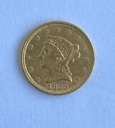 1853 2.50 U.s. Gold Coin Nice Circulated Coin With Good Strike