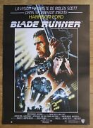 Blade Runner Sci-fi Harrison Ford Original Small French Movie Poster Rolled R90s