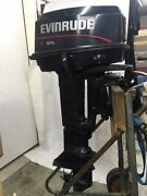 1996 Evinrude 28hp Long Shaft Outboard Motor Remote Serviced Water Ready Sc