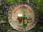 Vintage Ballantine Ale Beer Motion Bubbler Lighted Sign 19 Diam. Very Nice Cond