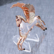 Extraordinary Vintage Signed Corocraft Jelly Belly Pegasus Winged Horse Brooch