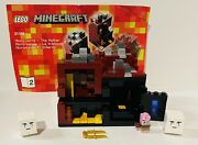 Lego Minecraft Micro World The Nether 21106 Complete W/o 1 Manual