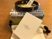 Fossil Mens Brown Leather Stainless Steel Ornaments Bracelet Jf03002040 - New
