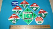 14 Rare Csn French Steel Workers Etc Union Sticker Decals Syndicat Member