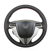 Black Artificial Leather Car Steering Wheel Cover For Honda Accord 8 Coupe 2008