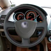 Black Artificial Leather Car Steering Wheel Cover For Honda City 2002-2008 Fit J