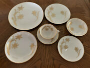 Vintage Lenox T-428 Fairfield Gold Flower And Leaves In Gold Set Of 6 - 42 Pcs