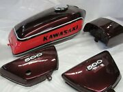 Kawasaki H1 Kh500 Show Quality Fuel Tank And Side Cover Set 1973-1976