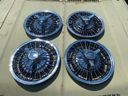 1964 1965 1966 Chevrolet Impala Chevelle 14 Wire 3 Bar Spinner Hubcaps Set