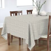 Tablecloth Stripes Lines Neutral Basket Charcoal Textured Cotton Sateen