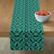 Table Runner Halloween Spooky Witches Haunted Spider Pumpkins Crow Cotton Sateen